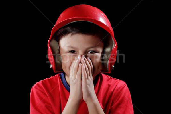 Jeunes souriant garçon baseball casque Photo stock © Freshdmedia