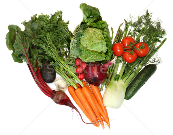 Groupe fraîches printemps légumes isolé blanche Photo stock © Freshdmedia