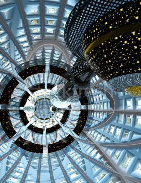 Exotiques à l'intérieur creux technologie glace Photo stock © Freshdmedia