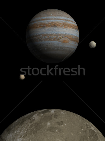 Jupiter rising over Ganymede Stock photo © Freshdmedia