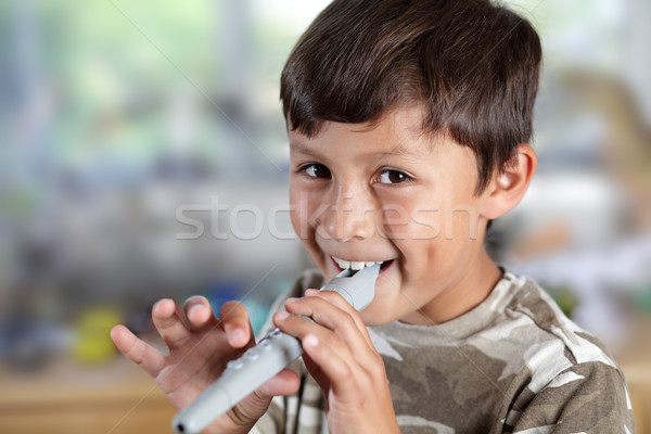 Young boy with recorder Stock photo © Freshdmedia