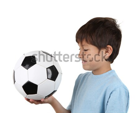 Side view of boy with soccer ball Stock photo © Freshdmedia