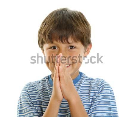 Gülen eller birlikte dua eden bekleme Stok fotoğraf © Freshdmedia