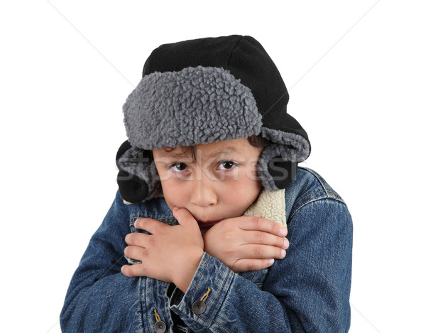 Freezing cold young boy Stock photo © Freshdmedia