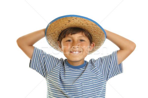 Cappello da cowboy felice sorridere giocattolo Foto d'archivio © Freshdmedia