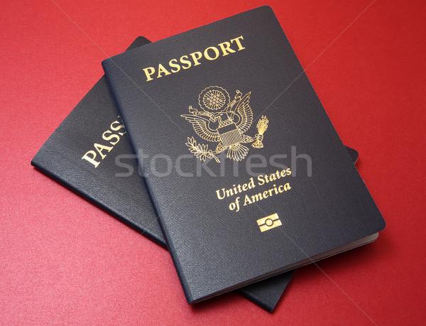 Deux rouge bleu États-Unis matériel Photo stock © Freshdmedia