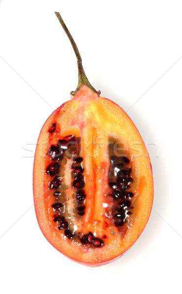 Vág fehér izolált étel gyümölcs trópusi Stock fotó © Freshdmedia