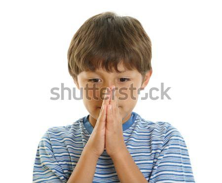 Eller birlikte bakıyor dua eden bekleme Stok fotoğraf © Freshdmedia