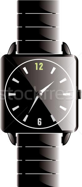 Fekete óra 3D renderelt designer izolált Stock fotó © Freshdmedia