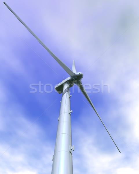 Wind Turbine Close-up Stock photo © Freshdmedia