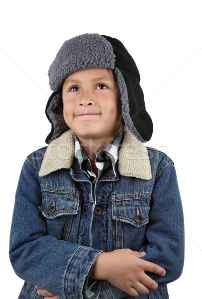 Soğuk erkek sıcak şapka ceket genç Stok fotoğraf © Freshdmedia