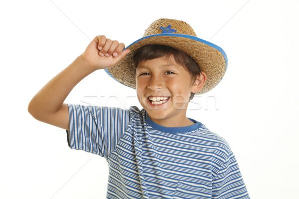 Young Boy in Cowboy Hat Stock photo © Freshdmedia