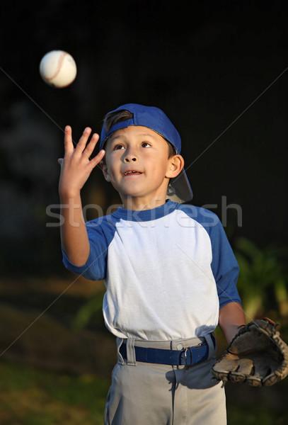 Fiatal srác baseball boldog mosolyog fiatal fiú Stock fotó © Freshdmedia