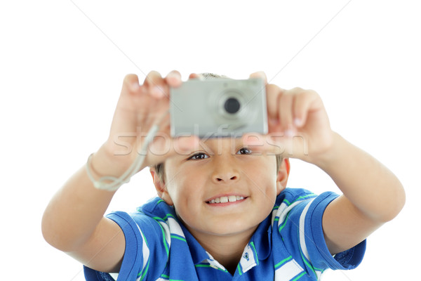 Kamera gülümsüyor atış erkek çocuk Stok fotoğraf © Freshdmedia