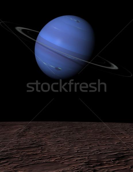 Portrait planète lune Photo stock © Freshdmedia