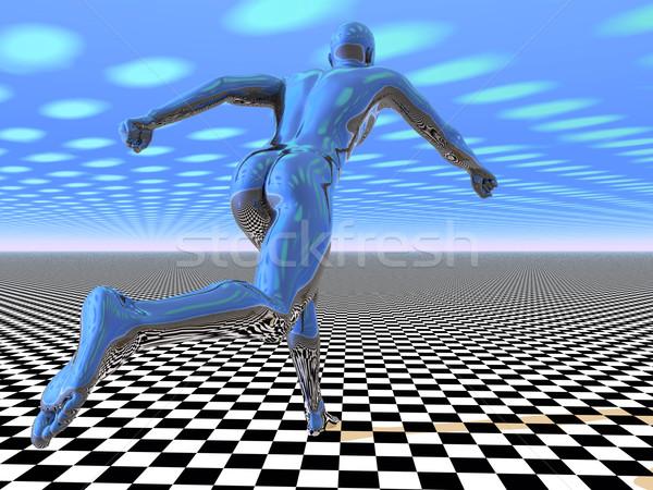 3D alien runner Stock photo © Freshdmedia
