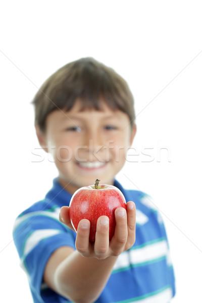 Boy with apple Stock photo © Freshdmedia