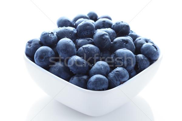 Organique bleuets élevé résolution blanche bol Photo stock © Freshdmedia