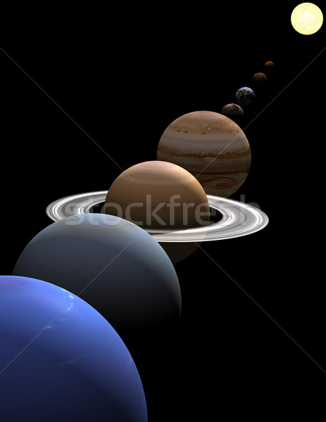 Solar system planets in alignment around sun Stock photo © Freshdmedia