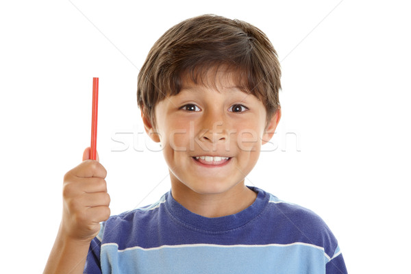 Young boy student with pencil Stock photo © Freshdmedia