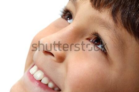 Jeunes garçons yeux souriant macro Photo stock © Freshdmedia