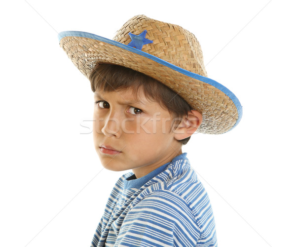 Young boy pretending to be tough Stock photo © Freshdmedia