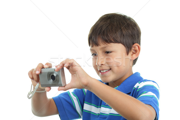 Caméra sourires coup garçon Kid Photo stock © Freshdmedia