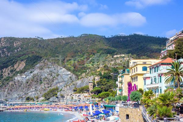 Daylight view to Monterosso al Mare mountains and city streets w Stock photo © frimufilms