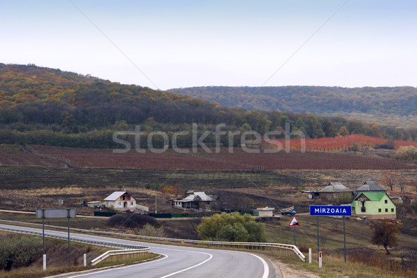 View on mirzoaia village in autumn Stock photo © frimufilms