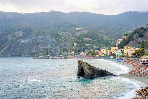 Güzel görmek kaya mavi su şehir Stok fotoğraf © frimufilms