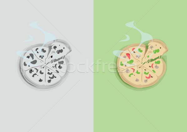 Stock fotó: Digitális · vektor · vicces · képregény · rajz · színes