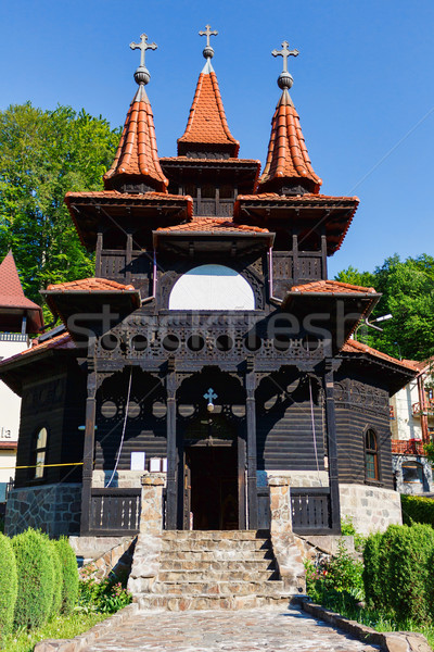 Romanian traditional wood church in Sovata Stock photo © frimufilms