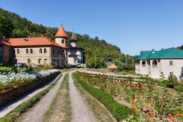 Women's orthodox monastery near rudi village Stock photo © frimufilms