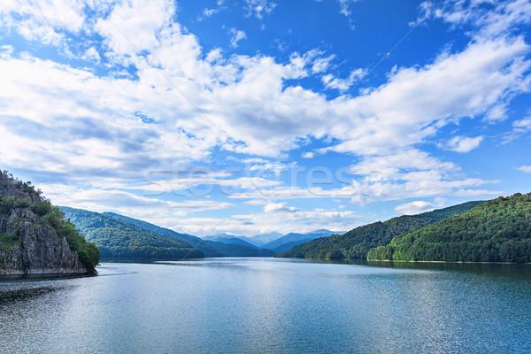 Photo of vidraru lake in fagaras mountains Stock photo © frimufilms