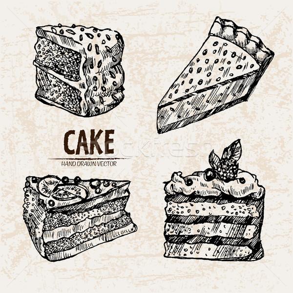 Digital vetor detalhado linha arte torta Foto stock © frimufilms