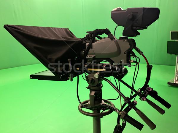 Modern empty green video Stock photo © frimufilms