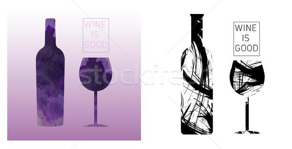 Wine tasting card set Stock photo © frimufilms