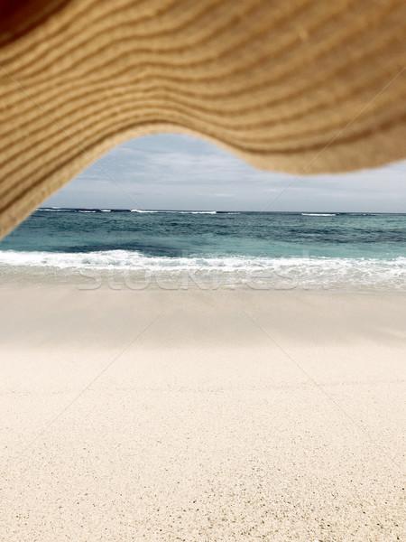 Mooie daglicht strand lijn Blauw Stockfoto © frimufilms