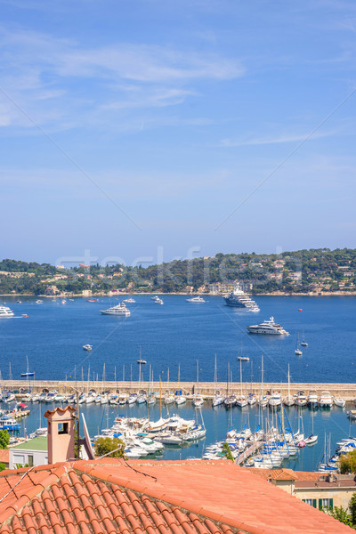 Beautiful daylight view to boats and ships on water in Nice Cote Stock photo © frimufilms