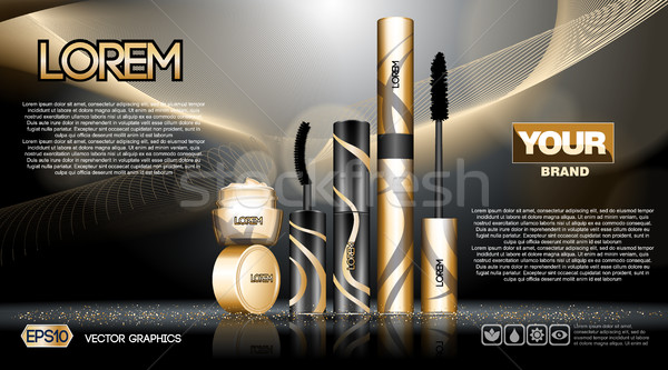 Digital vector golden and black Stock photo © frimufilms