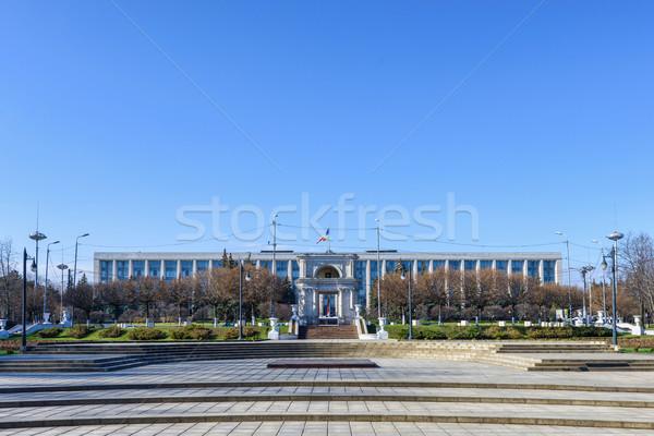 Vittoria arch governo costruzione Moldova cielo blu Foto d'archivio © frimufilms