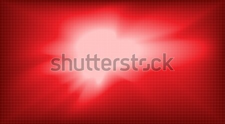 Dijital vektör soyut boş kırmızı ızgara Stok fotoğraf © frimufilms