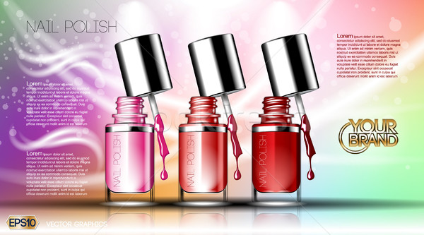 Digital vector transparent nail polish set Stock photo © frimufilms
