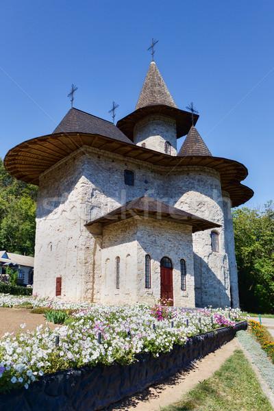 Ortodoxo monasterio pueblo norte república Moldavia Foto stock © frimufilms