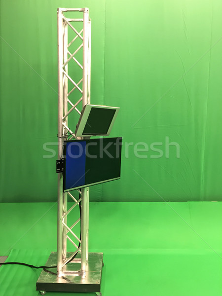 Modern boş yeşil video yayın stüdyo Stok fotoğraf © frimufilms