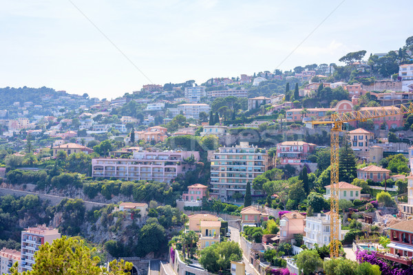 Beautiful daylight view to Cote d'Azur city resort Stock photo © frimufilms