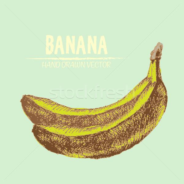 Digital vetor detalhado banana cor Foto stock © frimufilms