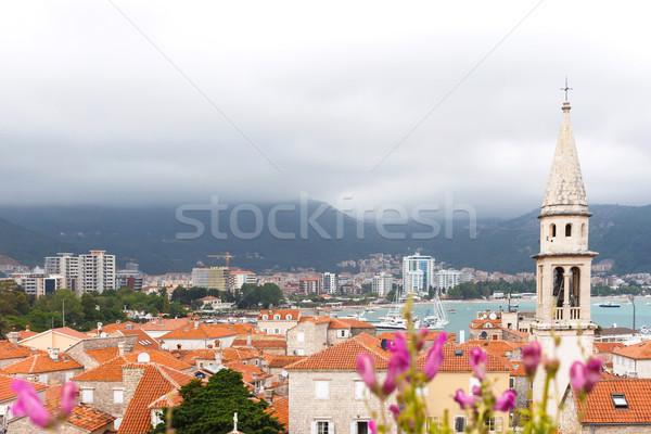 Kilátás óváros templom egy legjobb megőrzött Stock fotó © frimufilms