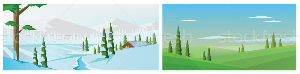 Digital vector abstract background collection set Stock photo © frimufilms