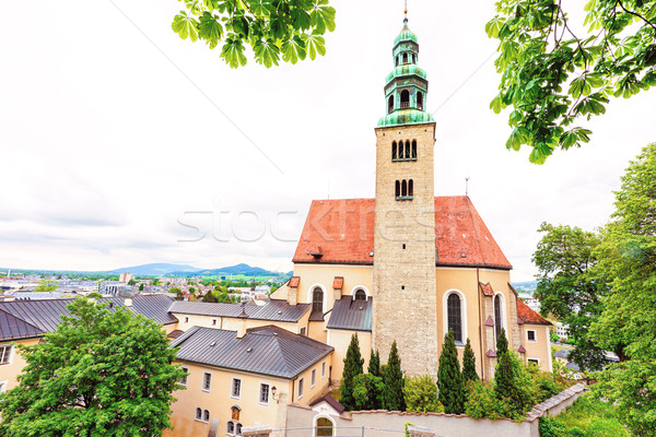View of old catholic church in salzburg Stock photo © frimufilms
